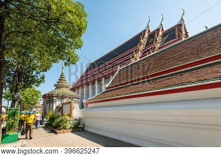 Bangkok, Thailand - December 7, 2019: Wat Pho, The Temple Of The Reclining Buddha, Or Wat Phra Chetu