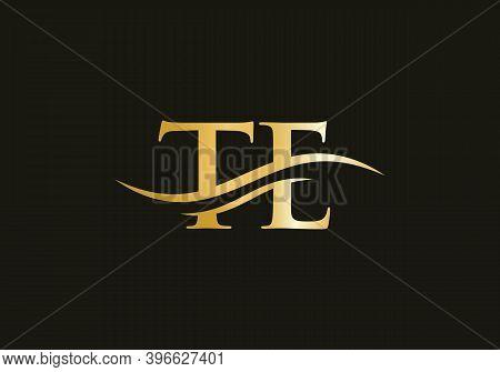Initial Te Letter Icon Logo. Te Logo Design. Te Modern Creative Unique Elegant Minimal.