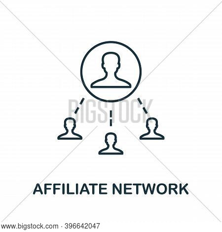 Affiliate Network Icon. Simple Line Element From Affiliate Marketing Collection. Thin Affiliate Netw