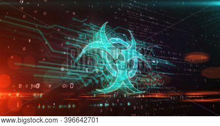 Biohazard Symbol Abstract 3D Illustration