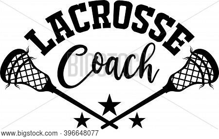 Lacrosse Coach On The White Background. Vector Illustration