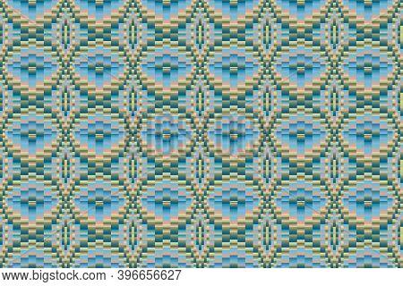 Bargello, Florentine, Italian Embroidery. Imitation. Seamless Background