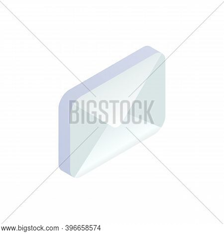 New Unread Message Isometric Icon, Mobile Email, New E-mail Sign. 3d Social Network, Sms Chat, Spam,