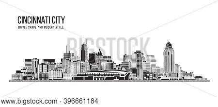 Cityscape Building Abstract Simple Shape And Modern Style Art Vector Design -  Cincinnati City