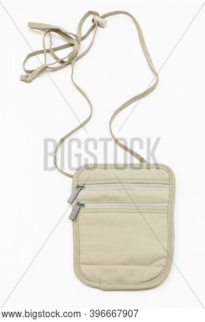 neck purse on a white background