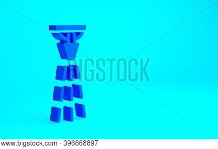 Blue Fire Sprinkler System Icon Isolated On Blue Background. Sprinkler, Fire Extinguisher Solid Icon
