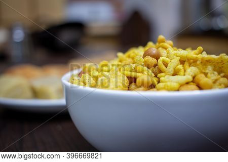 Indian Crispy Snack Which Is Referred With Different Names Like Chivda, Madras Mixture. Indian Sweet