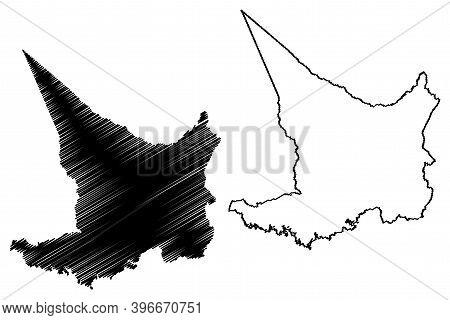 Embu County (republic Of Kenya, Eastern Province) Map Vector Illustration, Scribble Sketch Embu Map
