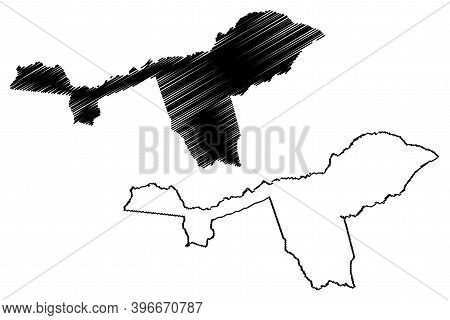 Isiolo County (republic Of Kenya, Eastern Province) Map Vector Illustration, Scribble Sketch Isiolo