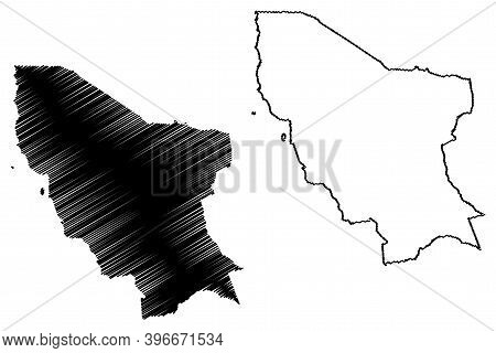 Marsabit County (republic Of Kenya, Eastern Province) Map Vector Illustration, Scribble Sketch Marsa