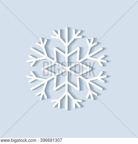 Vector Snowflake. Vector Snowflake Icon. Snowflake Logo. Flat Winter Snowflake.
