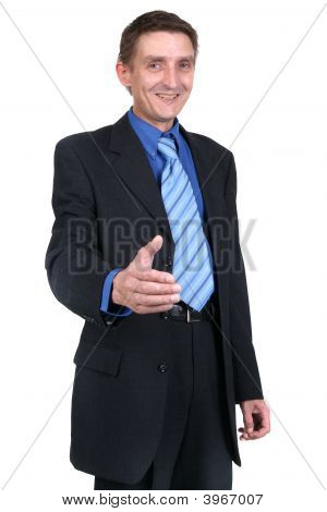Businessman Offering Hand