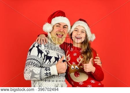 Family Bonds. Christmas Tradition. Christmas Eve Concept. Winter Holidays. My Dear Daughter. Father
