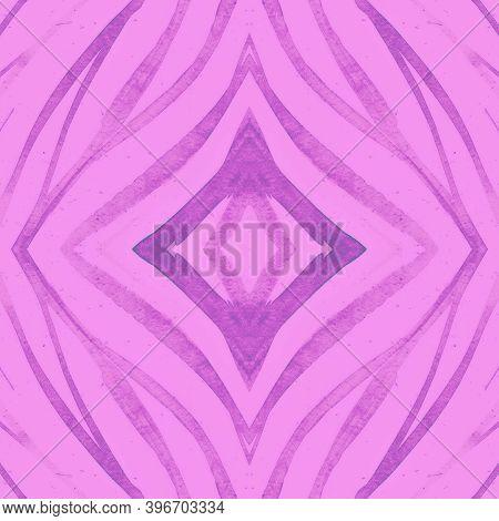 Seamless Animal Skin. Fashion Wild Texture. Violet Watercolor Lines. Seamless Cheetah Wallpaper. Zeb