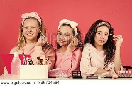 Fashion Is Life. Three Friends With Happy Face. Smiling Girls Friends Have Fun On Spa Beauty Salon P
