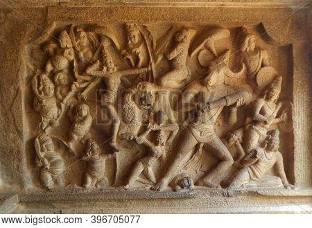 Ancient Stone Sculptures In Mamallapuram, Tamilnadu, India