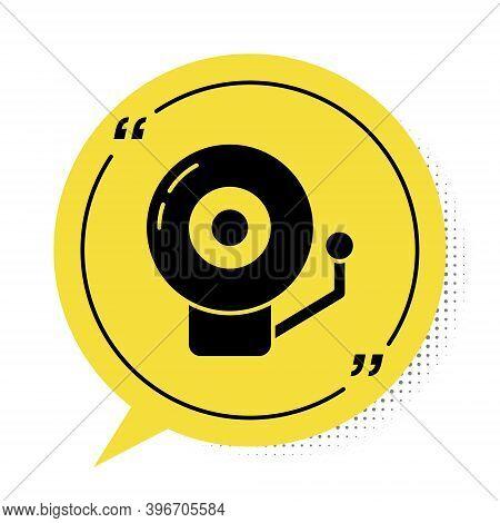 Black Ringing Alarm Bell Icon Isolated On White Background. Alarm Symbol, Service Bell, Handbell Sig