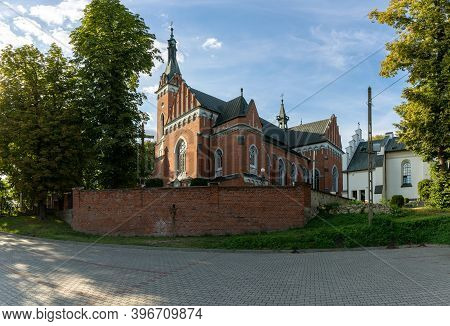 Wawolnica, Poland - August 24,2020: Church Of St. Adalbert In Wawolnica Near The Famous Chapel Of Th