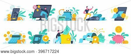 Banking Online Services. Digital Bank Transaction, Mobile Finance Services, Online Bill E Banking Pa