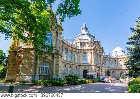 Budapest, Hungary - May 2019: Vajdahunyad Castle In Budapest