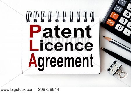 Patent Licence Agreement. Text On White Paper On White Background