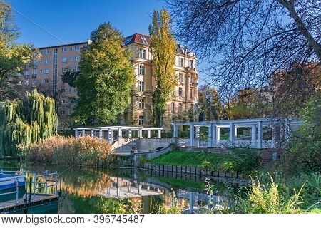 Berlin, Germany - November 7, 2020: The Great Cascade, Built In 1913 By Erwin Barth And Heinrich See