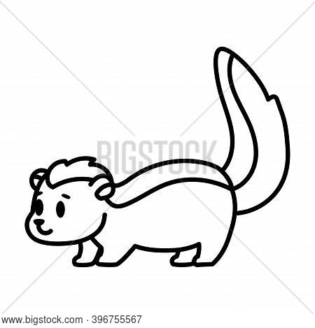 Isolated Cartoon Of A Skunk - Vector Illustration
