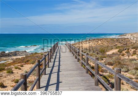 Wood passage in a beach near Vila Nova de Milfontes, Alentejo, Portugal