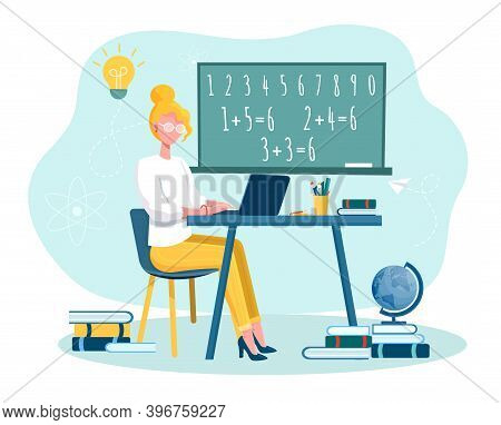 Online Training Courses And Distance Education Abstract Concept. Internet Studying, Online Book, Tut