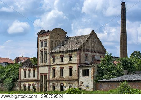 Zrenjanin, Serbia, July 04, 2020. Old Abandoned Factory That Was Completely Destroyed. The Factory W