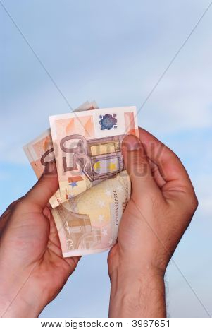 Counting Money,Clipping Path Included