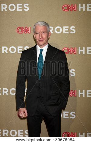 LOS ANGELES - DEC 2:  Anderson Cooper arrives to the 2012 CNN Heroes Awards at Shrine Auditorium on December 2, 2012 in Los Angeles, CA