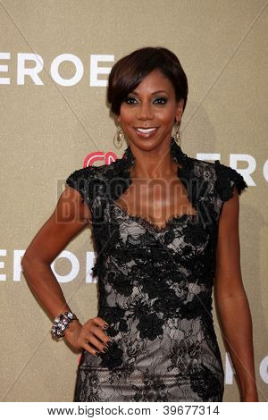 LOS ANGELES - DEC 2:  Holly Robinson Peete arrives to the 2012 CNN Heroes Awards at Shrine Auditorium on December 2, 2012 in Los Angeles, CA