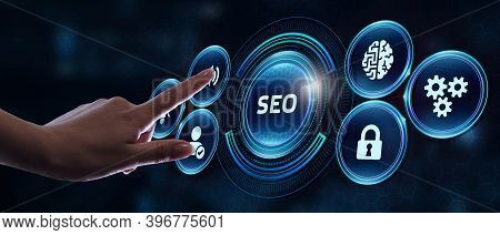 Business, Technology, Internet And Network Concept. Seo Search Engine Optimization Marketing Ranking