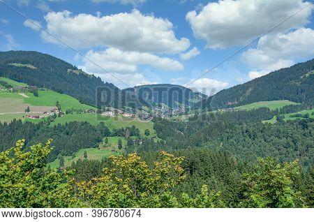 View To Village Of Oberau In Wildschonau,tirol,austria