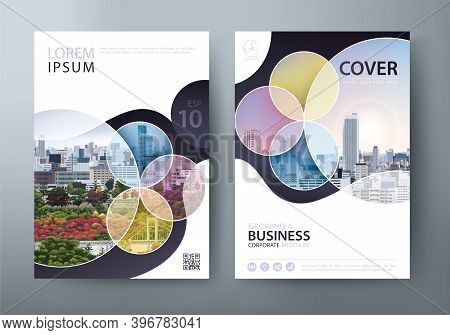 Annual Report Brochure Flyer Design Template Vector, Leaflet, Presentation Book Cover Templates.