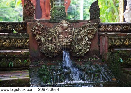 Traditional Temple Architecture On Koh Samui In Thailand, Southeast Asian Culture, Display Of Thai A