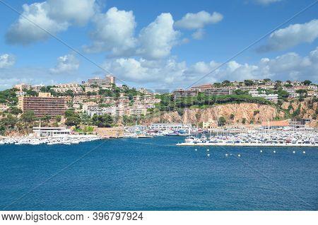 Sant Feliu De Guixols At Costa Brava,catalonia,mediterranean Sea,spain