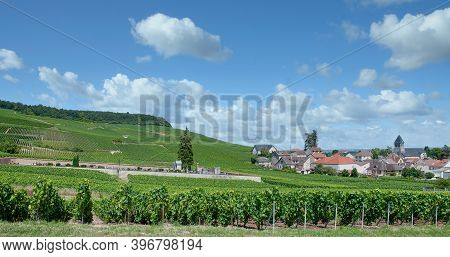 Famous Wine Village Of Oger In Champagne Region Near Epernay,france