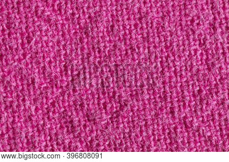 Macrophotography Of Fabric Texture Abstract Background Close Up View.