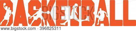 Basketball On The White Background. Vector Illustration
