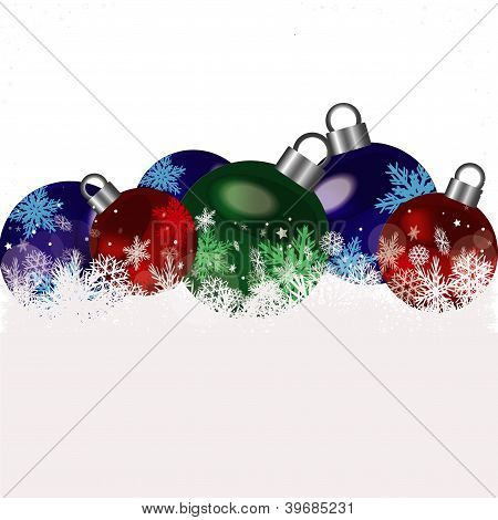 Christmas colored balls