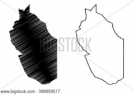 Wajir County (republic Of Kenya, North Eastern Province) Map Vector Illustration, Scribble Sketch Wa