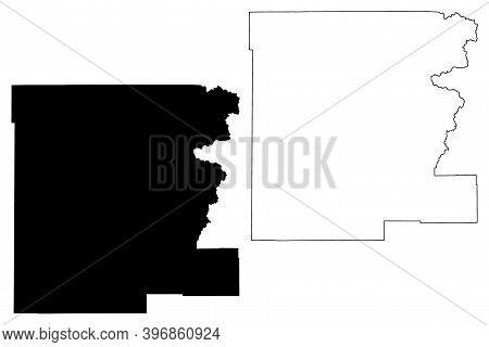 Grant County, Oregon State (u.s. County, United States Of America, Usa, U.s., Us) Map Vector Illustr