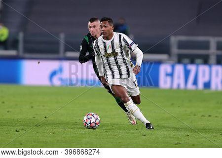 Torino, Italy. 24th November 2020. Alex Sandro Of Juventus Fc   During The Uefa Champions League Gro