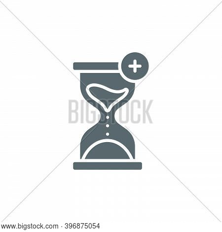 Extra Hour, Extra Time Color, Line, Outline Vector Sign, Linear Style Pictogram Isolated On White. S
