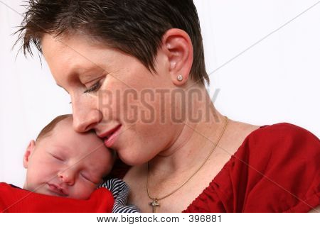 Baby Being Watch By Loving Mother