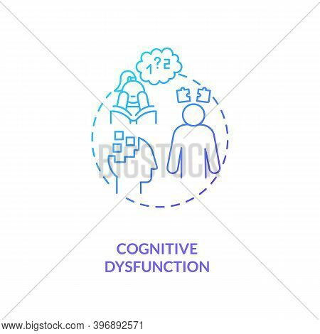 Cognitive Dysfunction Concept Icon. Cfs Symptom Idea Thin Line Illustration. Language Comprehension
