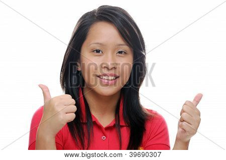 Girl Looking Happy