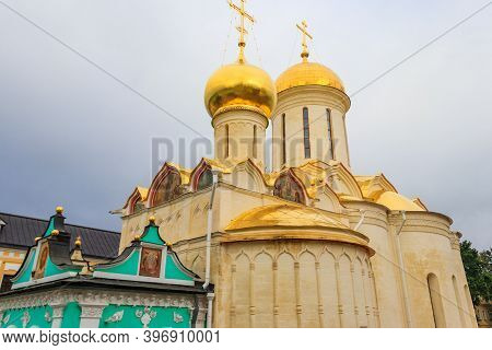 Trinity Cathedral Of Trinity Lavra Of St. Sergius In Sergiev Posad, Russia